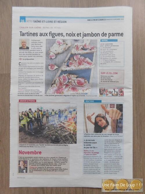 Mes recettes dans le Journal de Saône & Loire JSL 71 - Noël 2018