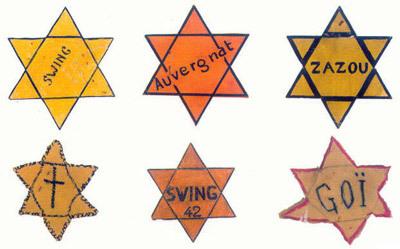 Étoiles juives saisies par les autorités françaises.