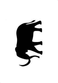 Fichier découpe rhinoceros et mammouth