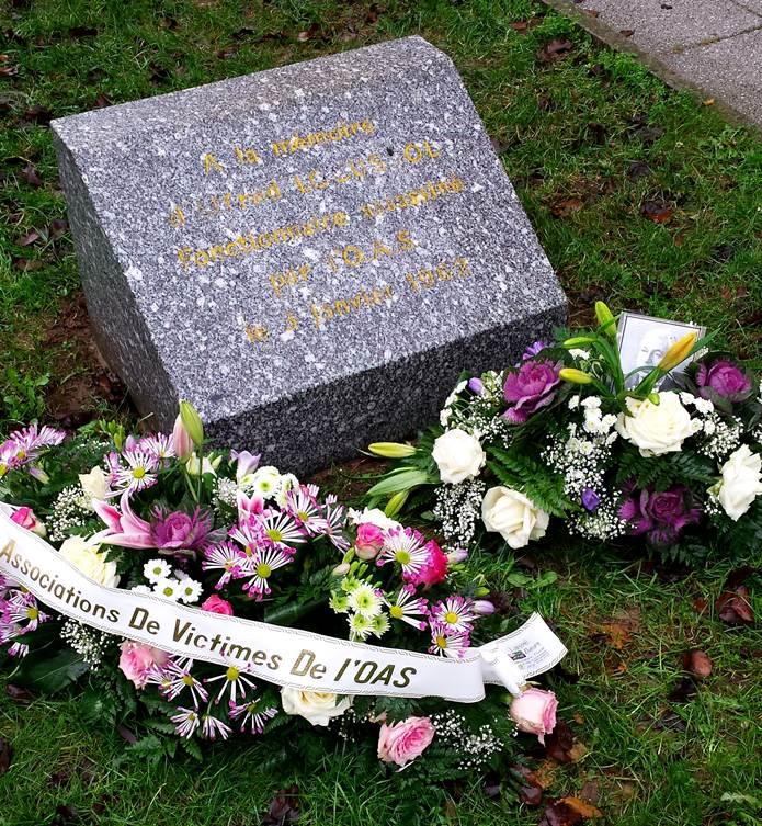 Alençon, 3 janvier 2015 : hommage à la mémoire d'Alfred Locussol à l'occasion du 53e anniversaire de son assassinat