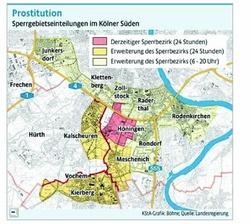 Sperrbezirke in Köln