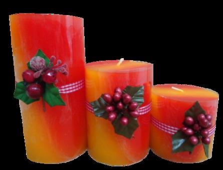 Bougies de Noël ou bougeoirs /etc 3