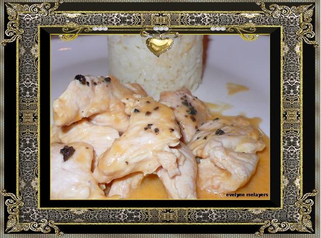 emincé de poulet truffé et porto blanc
