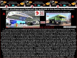 CHINE: développement fulgurant des matériels à très hautes technologies!.
