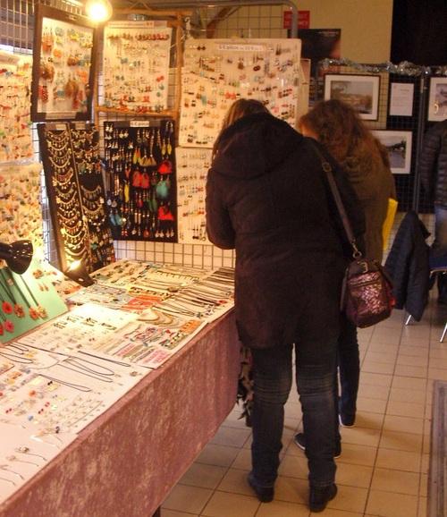 Exposition de mes bijoux sur le marché de noël de VERETZ