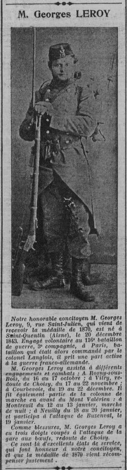 Un Médaillé de 1870 parmis d'autres