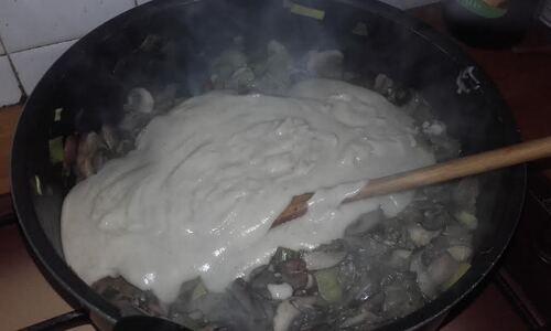 Calzone champignons et Poireaux {Vegan}