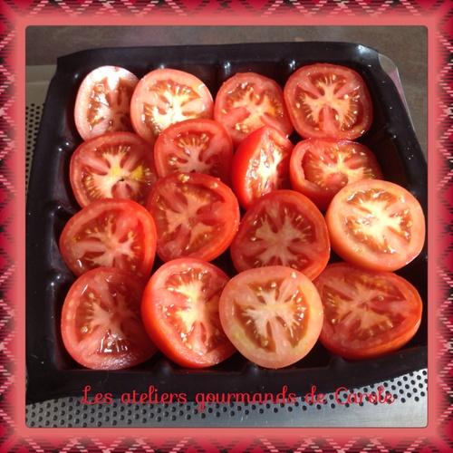 Tatin de tomates au chèvre