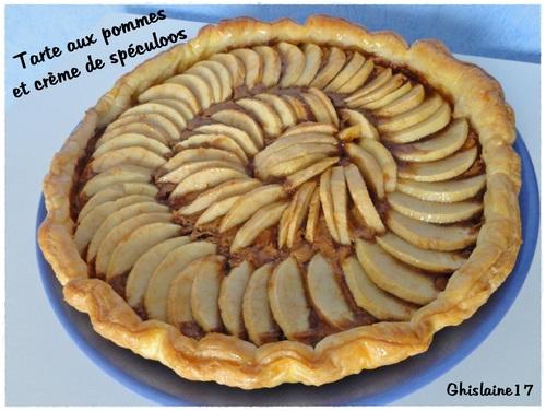 Tarte aux pommes et crème de spéculoos