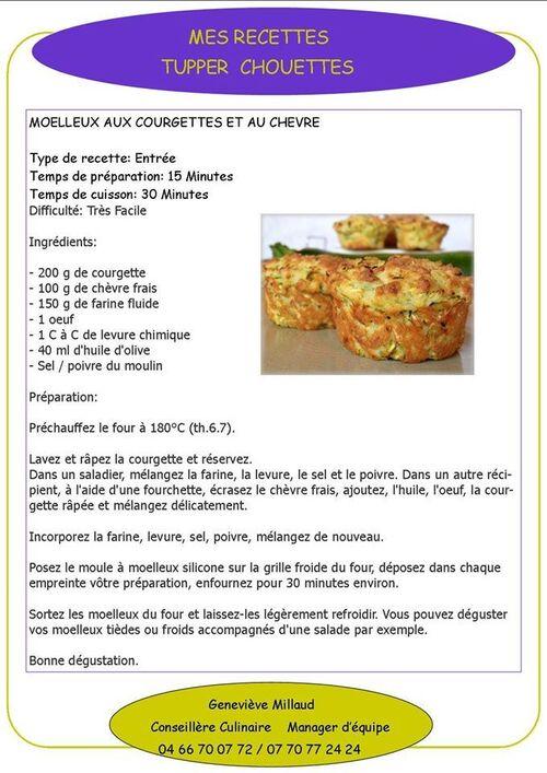 muffins a la courgette