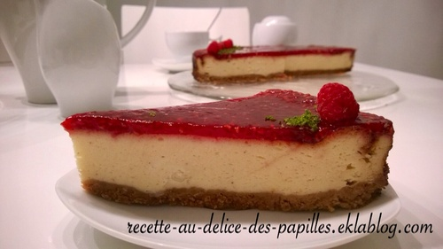 Recette cheesecake framboise