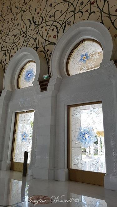 Abu Dhabi : Mosquée du Sheikh Zayed 6/ (Décors)
