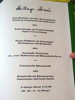 Menuekarte im Vieux Sinzig