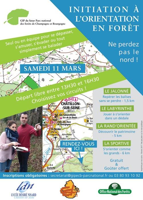 Initiation à l'orientation en forêt de Châtillon sur Seine
