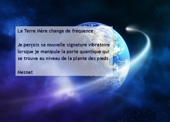 1 : La terre vibre de nouvelles fréquences