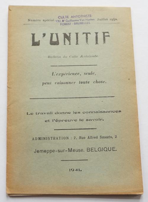 Unitif - Numéro spécial - Juillet 1941