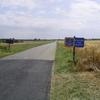 L'arrivée dans le Loiret, avec des champs à perte de vue