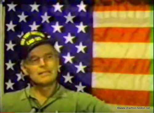 Charlton Heston Interview USS Fort Snelling