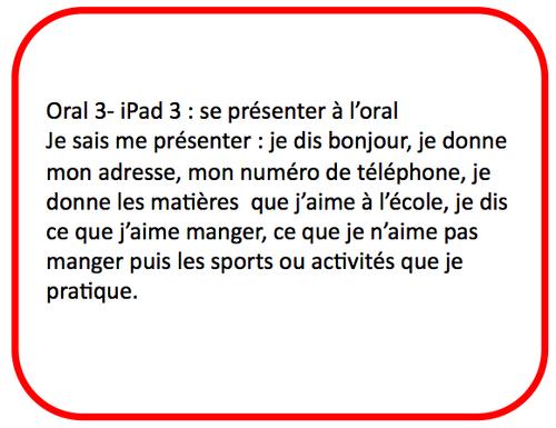 S'enregistrer sur iPad : anglais oral 3 - se présenter - CM2