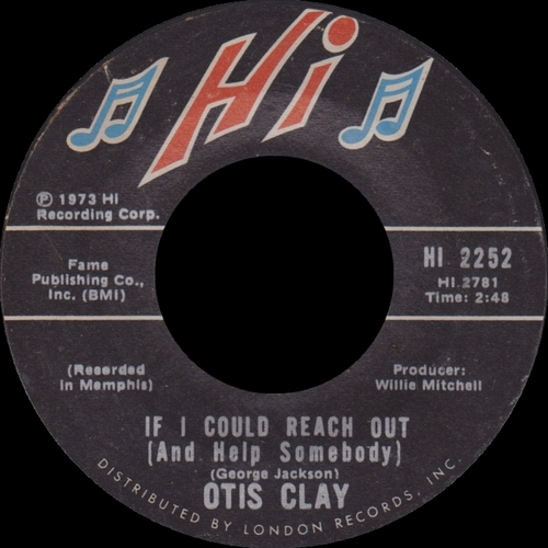 "Otis Clay : Album "" Trying To Live My Life Without You "" Hi Records XSHL 32075 [ US ]"