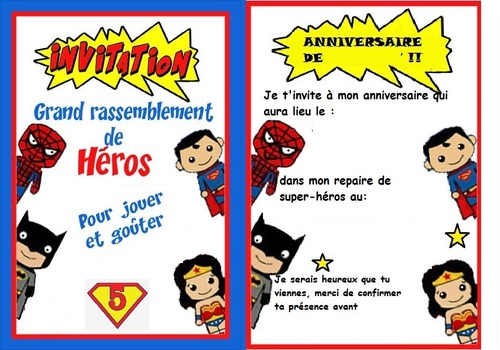 Un anniversaire de Super Héro