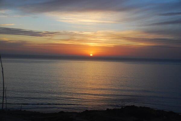 Un coucher de soleil sur l'Atlantique
