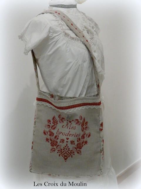 Trés beau sac pour porter les broderies