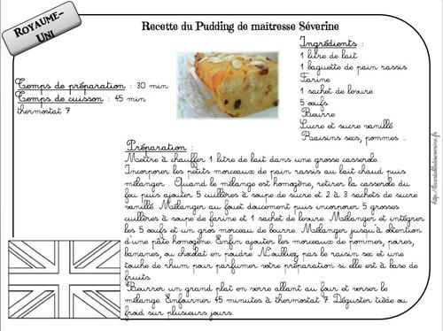 Recette du pudding de maîtresse Séverine