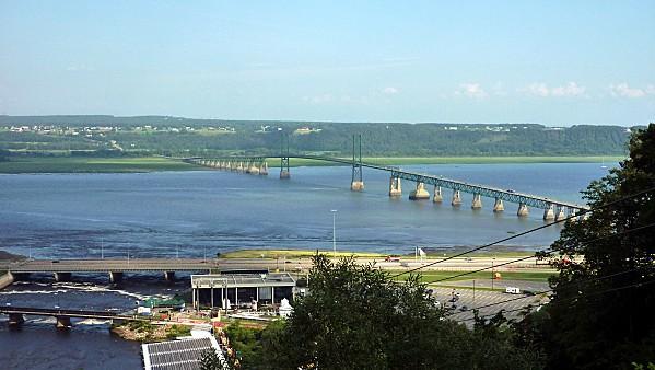 Québec Ile d'Orléans vue de télécabine Montmorency 2b