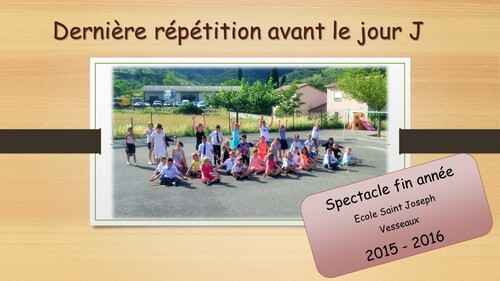 Spectacle fin année scolaire 2016 - 2017