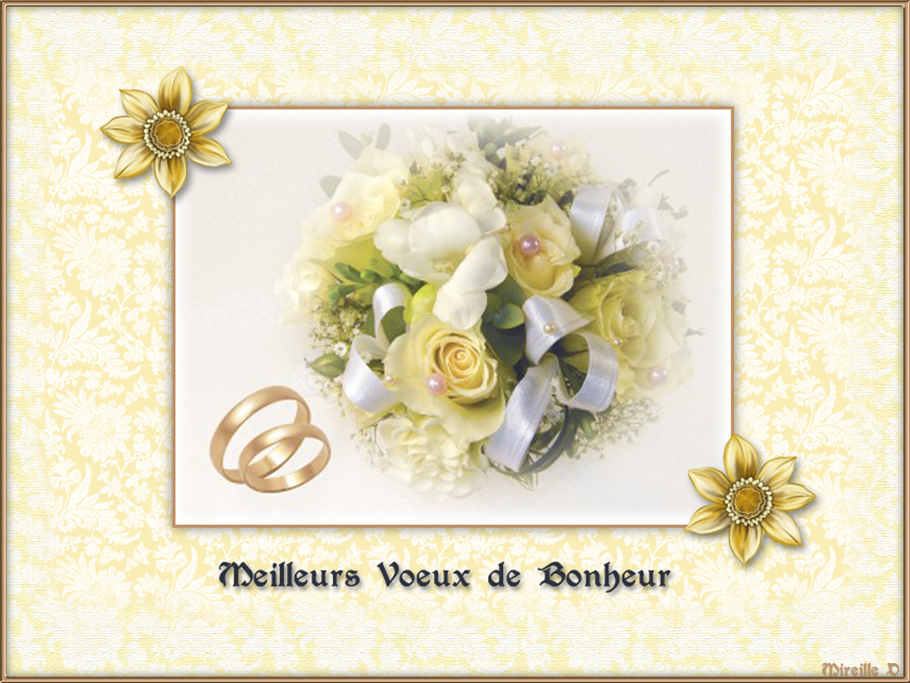 carte de voeux musicale pour un mariage chez mireille d. Black Bedroom Furniture Sets. Home Design Ideas