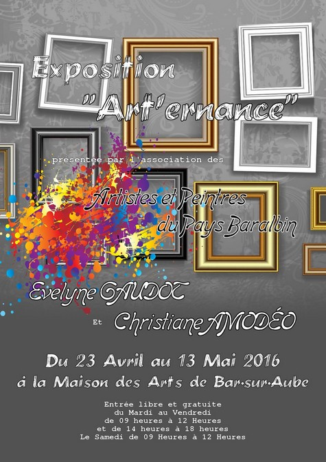 """Art'ernance"" 1er Tour - Du 23.04 au 13.05.16"
