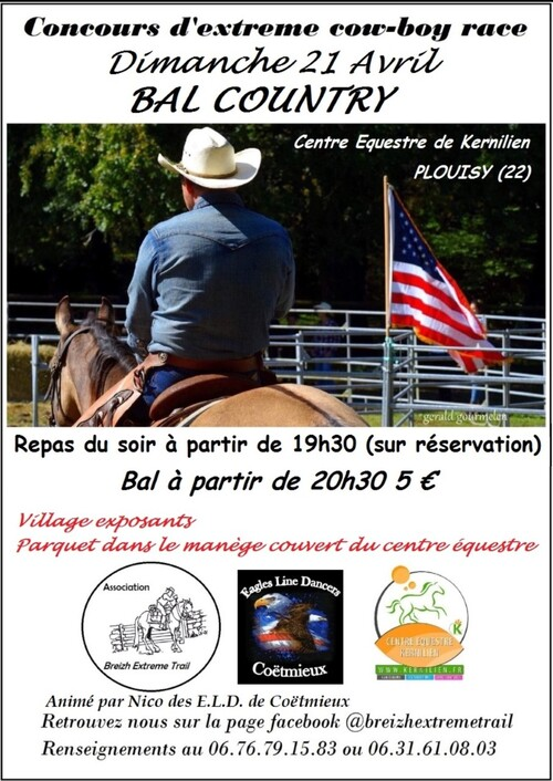affiche bal country  plouisy(22) 21-04-2019  Eagles line dancers