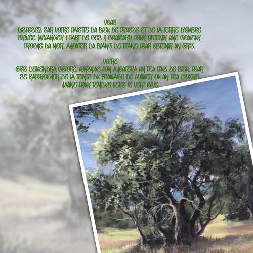Dessin et peinture - vidéo 3604 : Comment peindre un olivier ? - acrylique, huile.