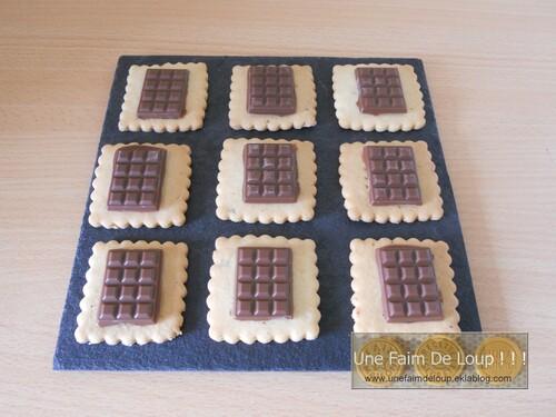 """Petits beurre + tablette chocolat façon """" Petits écoliers """""""