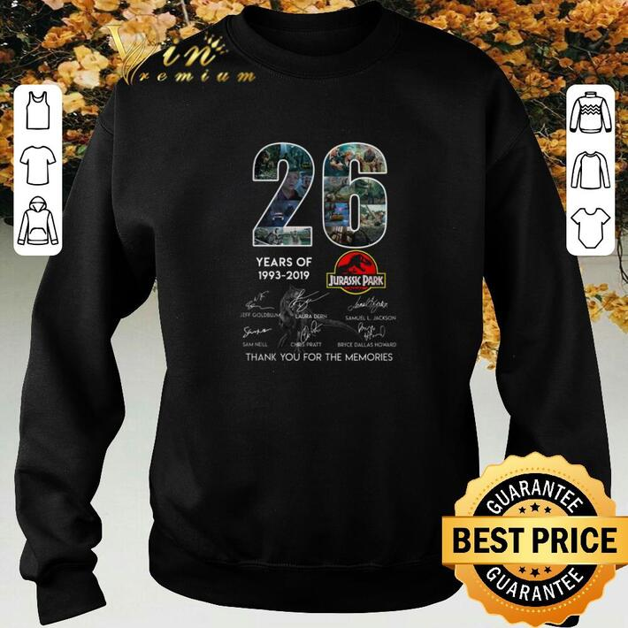 Awesome 26 Years of Jurassic Park 1993-2019 Signatures shirt
