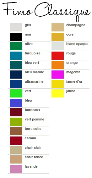 Couleurs fimo
