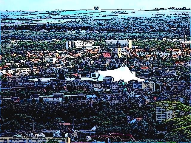 Centre Pompidou Metz vue du Saint Quentin 1 mp13 02 09 2010