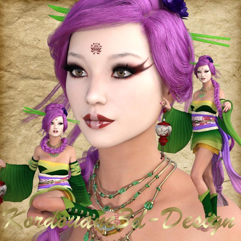 Ayato : 3 tubes de femme geisha fantastique