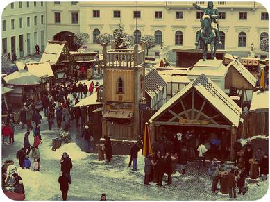 Visite du marché médieval et rencontre avec St Nicolas