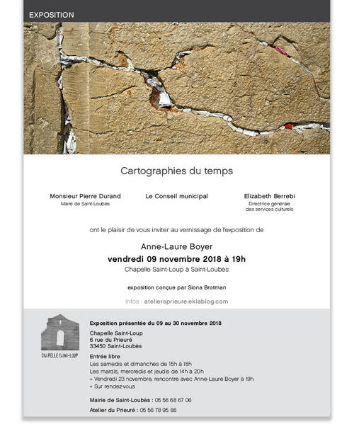 Exposition # 29, Anne-Laure Boyer, Cartographies du temps