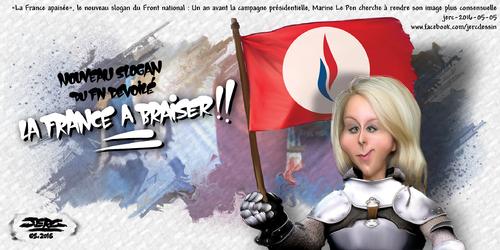 JERC 2016-05-05, caricature Marion Le Pen Quand des millionnaires s'accaparent la fête du travail ! www.facebook.com/jercdessin Cliquer sur la photo pour voir en plus grand