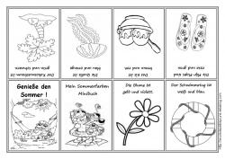 Les saisons - allemand - coloriages