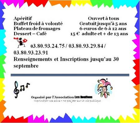 """L'Association de Chamesson """"les Bouffons"""" organise un karaoké..."""