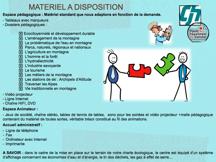MATERIEL A DISPOSITION