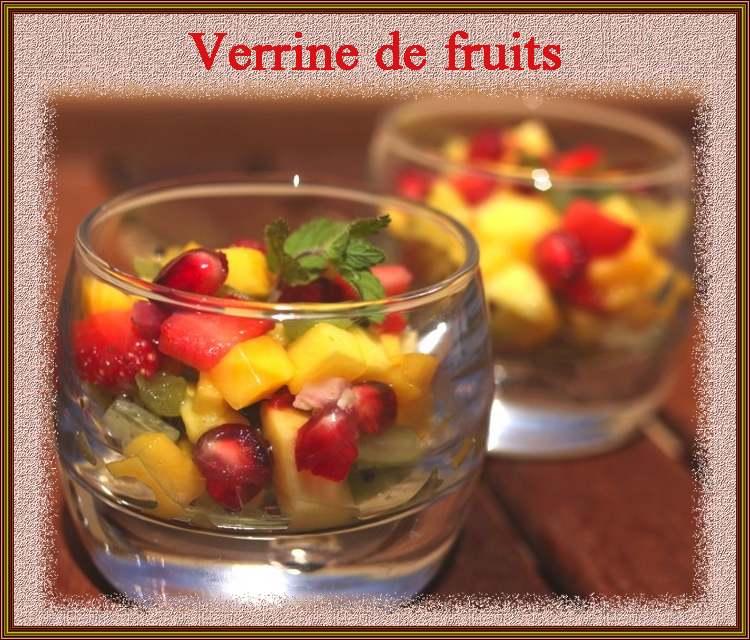 Verrine de fruits exotiques