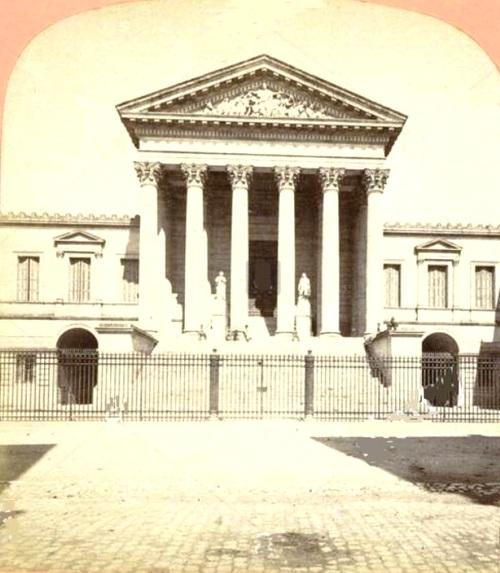 Le Palais de Justice de Montpellier (photographie stéréoscopique tirée sur papier albuminé, par Étienne Neurdein. Ca 1860- ca 1890)
