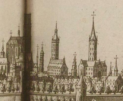 Gand, vue - Pieter Boudewyn Van Der Aa, La galerie agréable du monde, 1729 (gallica)