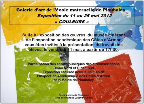 EXPOSITION des travaux d'enfants à la galerie d'art de l'école du 11 au 27 mai