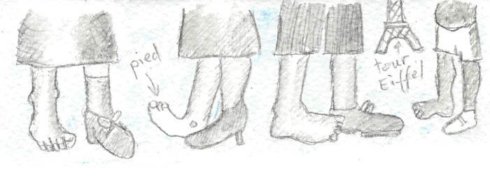 Un pied sur deux